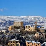 Panorama di Monte Cerignone innevata